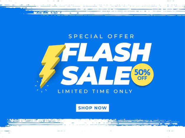 플래시 판매 배너 템플릿 프로모션 포스터 특별 제공 최대 50