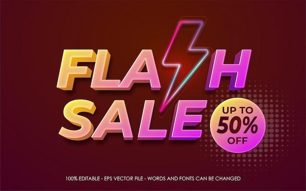 Flash sale banner template promotion