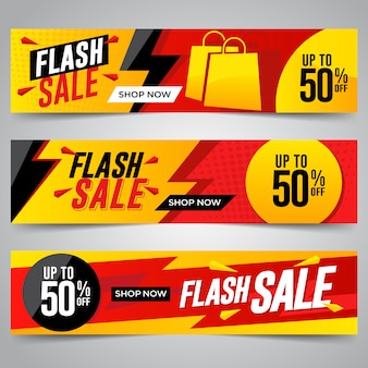 Flash sale banners