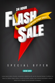 Flash sale bright banner or poster