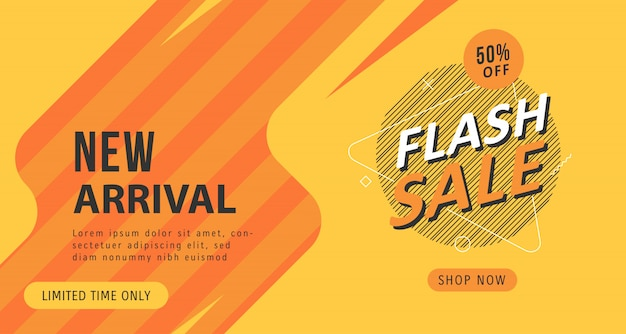 Flash sale discount banner background template