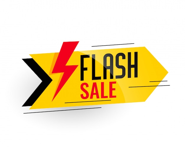 Flash sale and discount banner