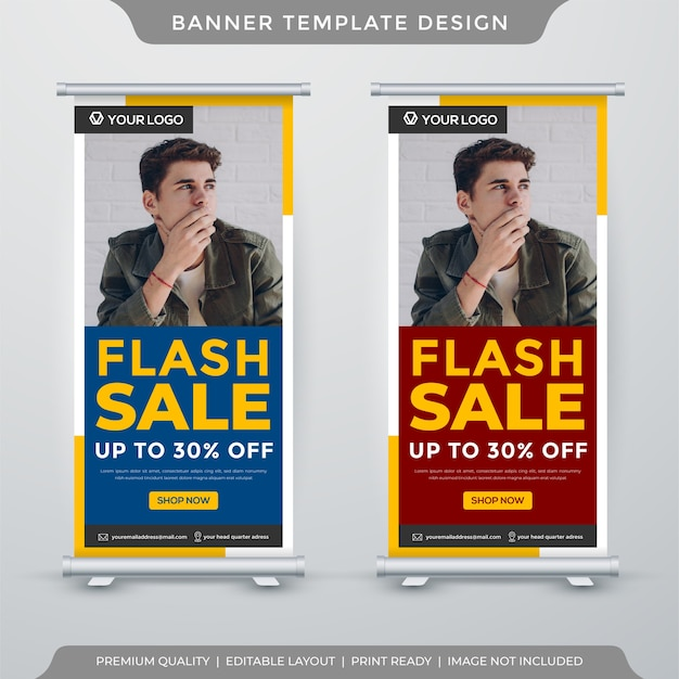 Flash sale display banner template
