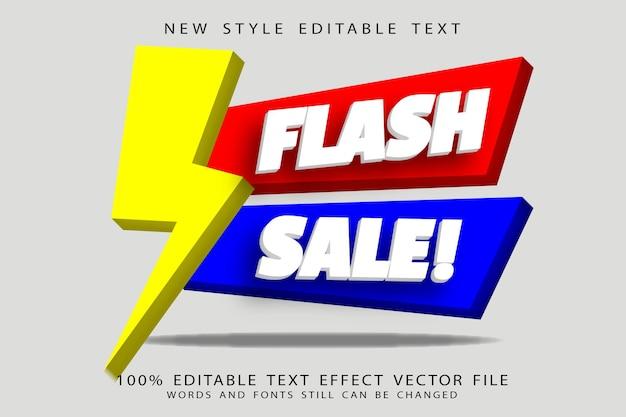 Flash sale editable emboss modern style