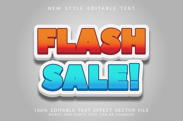 Flash sale editable text effect emboss comic style