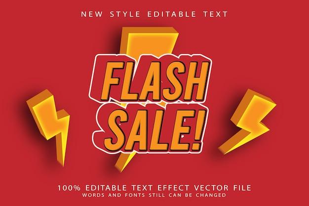 Flash sale editable text effect emboss modern style