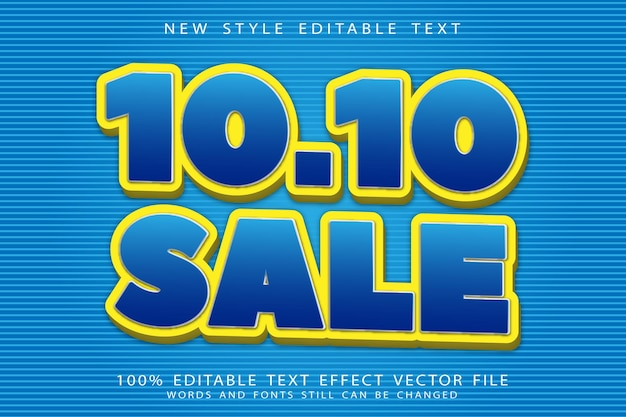 Flash sale editable text effect emboss simple style