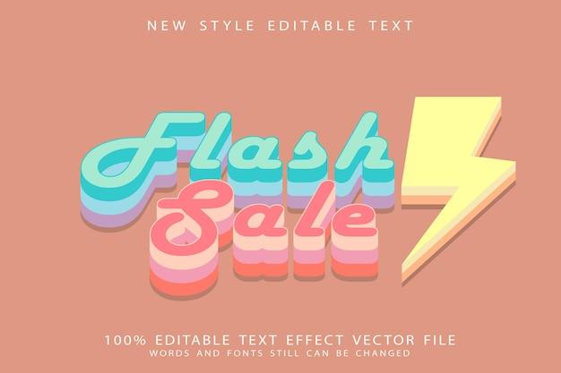 Flash sale editable text effect emboss vintage style