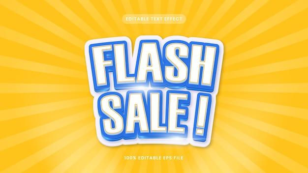 Flash sale editable text effect