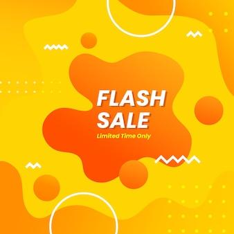 Flash sale fluid style background vector