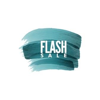 Flash sale label badges paint brush style
