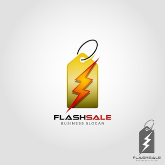 Flash sale logo template