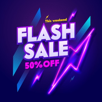 Флэш-распродажа неоновая ночь баннер знак. рекламный щит со скидкой glow electric bar billboard