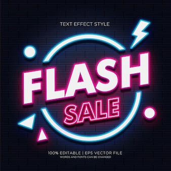 Flash sale neon text effects