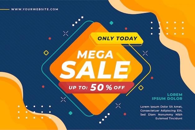Flash sale promotion banner template