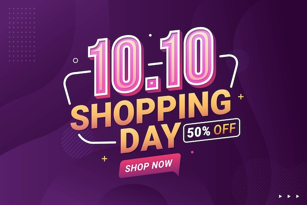 Flash sale shopping day banner