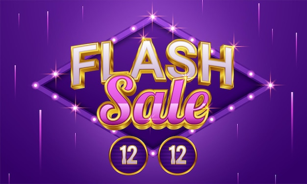 Flash sale shopping poster or banner