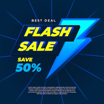 Flash sale for social media post