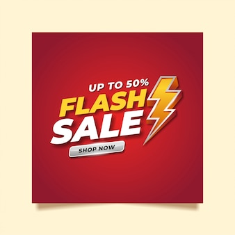 Flash sale social media template design