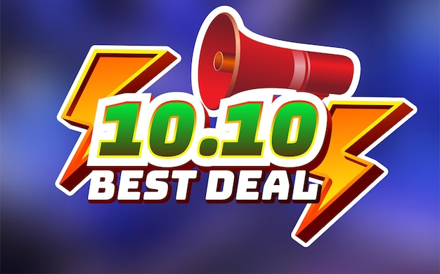 Flash sale special 1010 text effect fully editable text effect