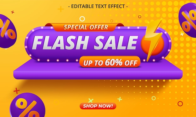 Flash sale special offer clearance banner