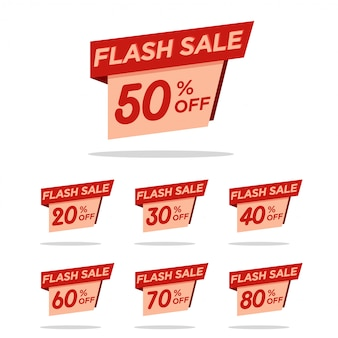 Flash sale tag discount pack