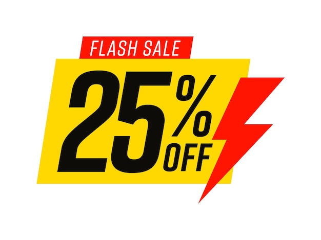Flash sale template with 25 percent off commercial bonus