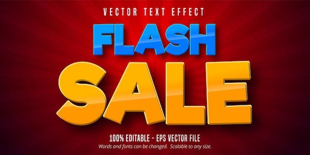 Flash sale text, editable text effect