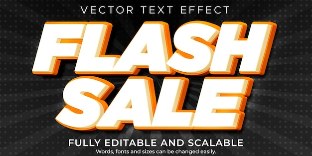 플래시 세일 텍스트 효과, 편집 가능한 할인 및 제안 텍스트 스타일