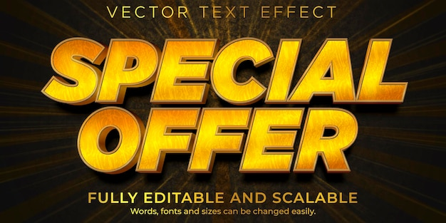 Flash sale text effect editable discount and offer text style