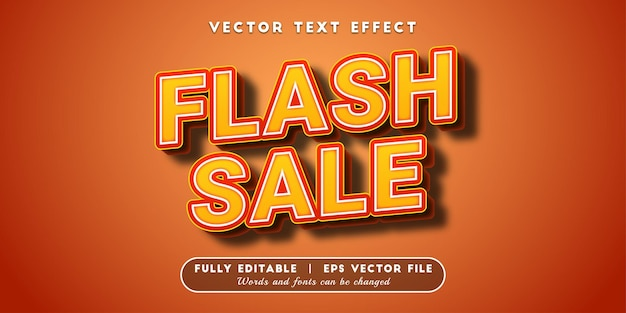 Flash sale text effect, editable text style
