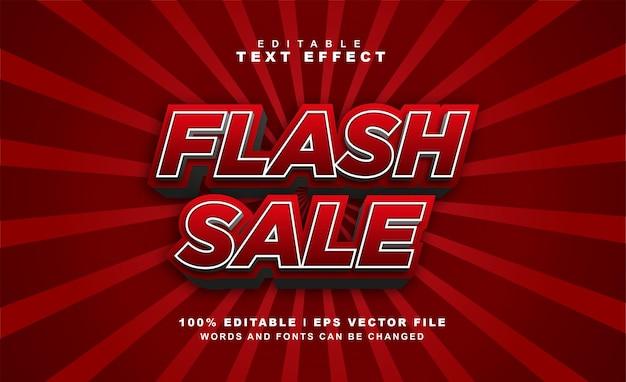 Флэш-продажи текстовый эффект бесплатный вектор eps