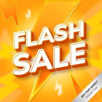 Flash sale text effect gradient orange
