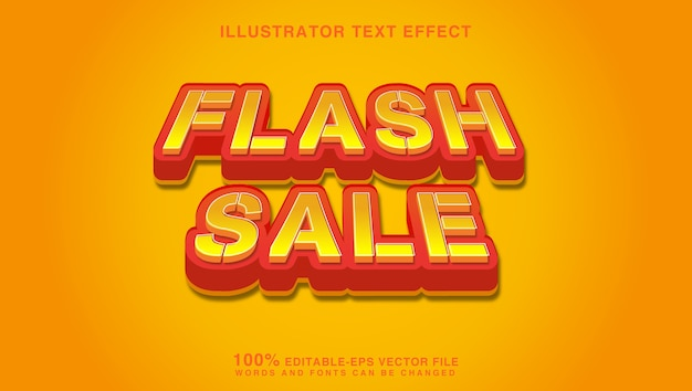 Flash sale text effect graphic style
