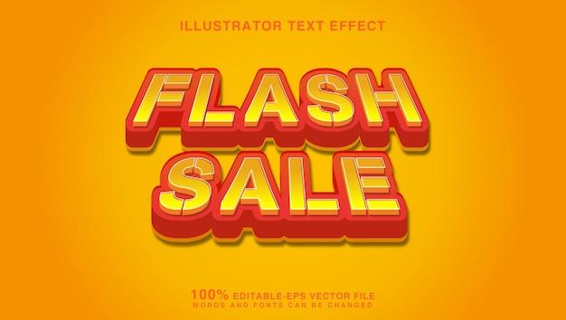 플래시 판매 텍스트 효과 그래픽 스타일