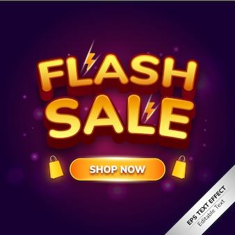 Flash sale text effect shop now
