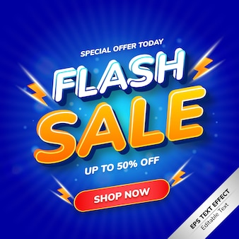 Flash sale text effect special offer today
