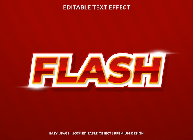 Flash sale text effect template  style