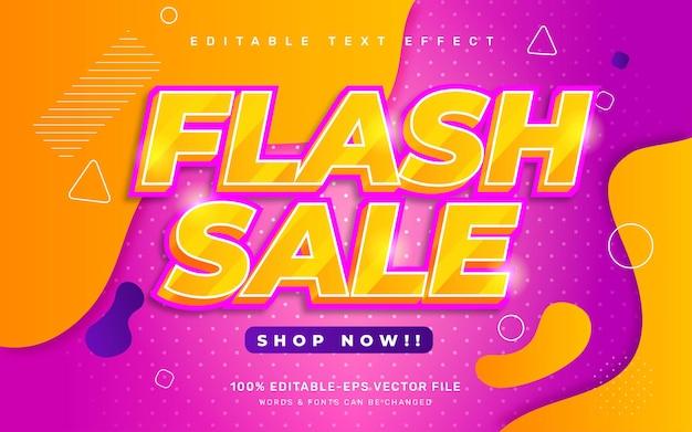 Текстовый эффект флеш-продажи