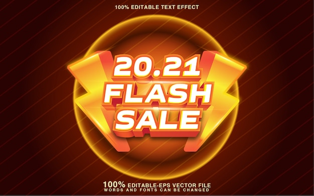 Flash sale text style effect