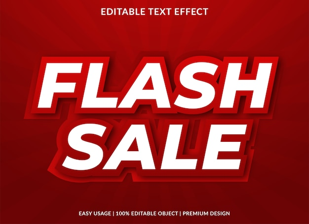 Flash sale text style template