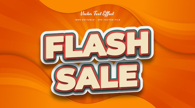 Flash sale text in vintage comic style. editable text style effect