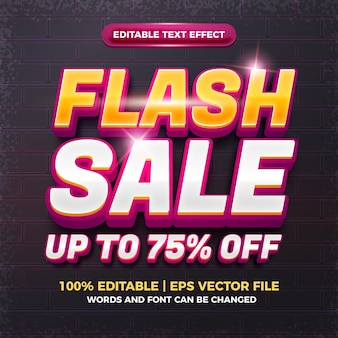 3d編集可能なテキスト効果が最大75%オフのフラッシュセール