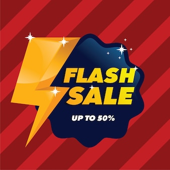 Flash sale with flat style background