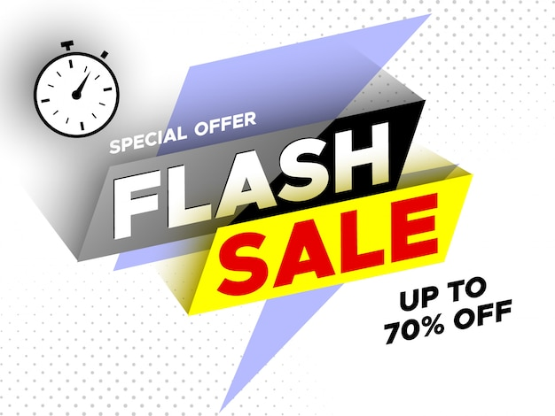 Flash sale .