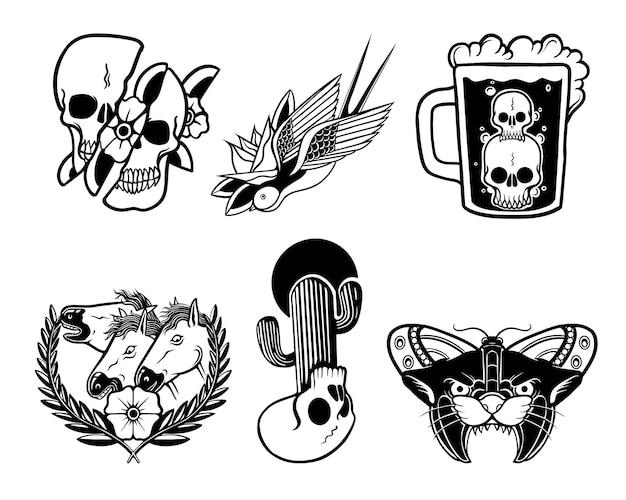 플래시 문신 디자인