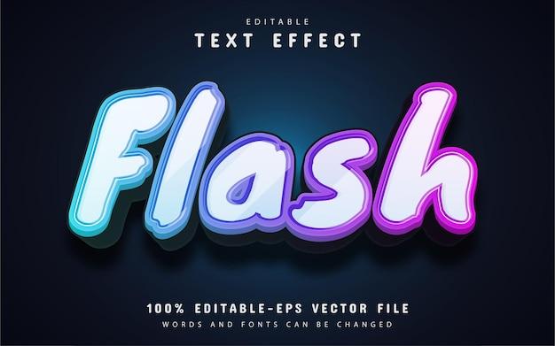 Flash text, 3d gradient text effect