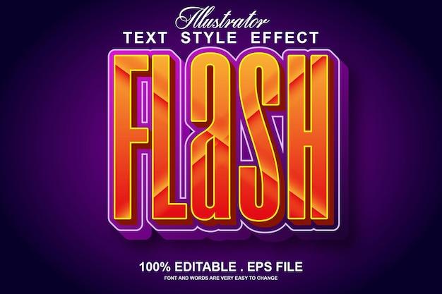 Flash текстовый эффект редактируемый