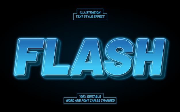Flash text style effect
