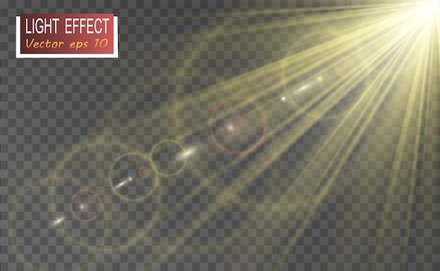 特殊レンズフラッシュ、光の効果。 flashは光線とサーチライトを点滅させます。